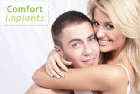 Comfort Implants - Dental Implant With Bone Augmentation Plus Scale and Polish - Save 69%