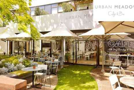 Urban Meadow Cafe - Two Course Brunch with Bottomless Prosecco for Two - Save 0%