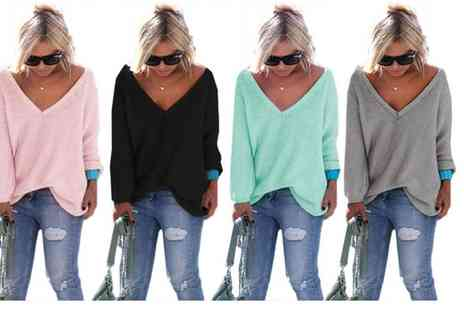 Dress Room - Womens v neck sweater - Save 62%