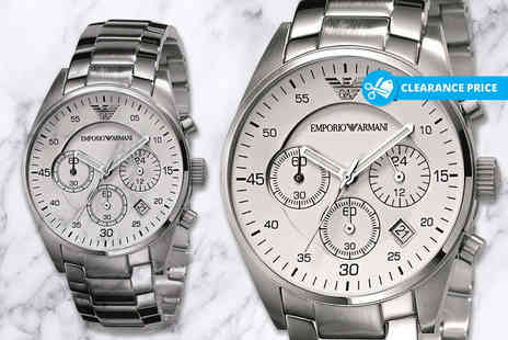 Wristy Business - Mens Emporio Armani AR5869 stainless steel watch - Save 56%
