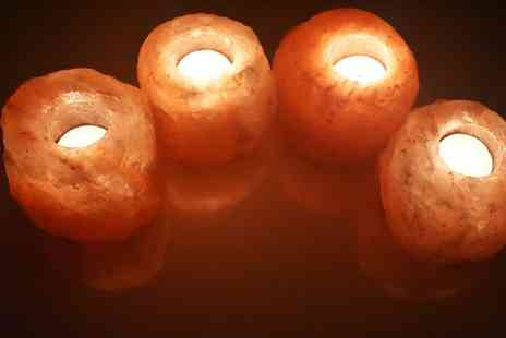 Groupon Goods Global GmbH - One or Two Sets of Four Piece Salt Candle Holders - Save 0%