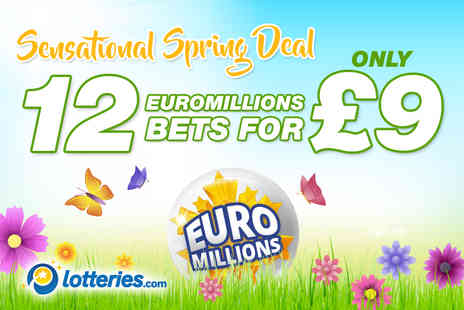 Lotteries - 12 EuroMillions line bets over one draw - Save 0%