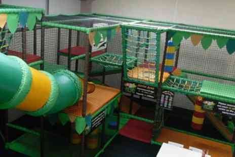 Jungle Chums - Soft Play Entry with a Jug of Squash for Two or Three Children - Save 57%