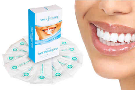 Smile Science - Pack of 14 smile science advanced teeth whitening strips - Save 88%