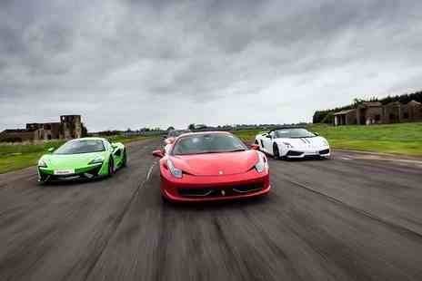 Drivers Dream Days - Three lap supercar driving experience with a hot lap or three laps in two cars - Save 58%