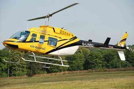 Elite Helicopters - 10 minute Goodwood Gallop helicopter flight - Save 31%