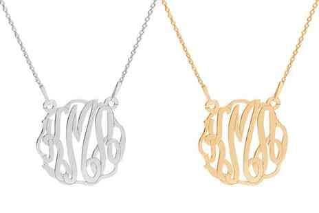Jewells House - One, Two or Three Personalised Sterling Silver Monogram Necklaces With Free Delivery - Save 75%