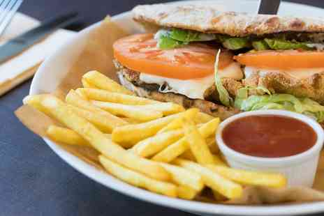 Blend Pizza Taste Lab - Burger and Chips with Cocktail for Two - Save 45%