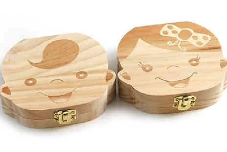 Home Season - Baby Tooth Keepsake Box Choose from 2 Designs - Save 70%