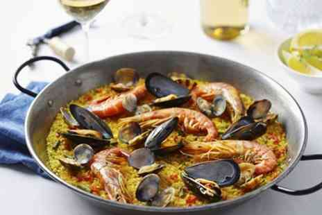 The Med Bar - Paella with Wine for Two or Four - Save 50%