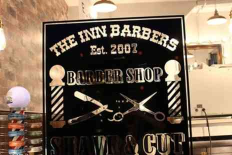 The Inn Barbers - Mens Haircut with Wash and Head Massage with Optional Deluxe Wet Close Shave - Save 60%