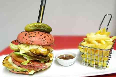 Tazs Gourmet Grill Steak And Burgers - Choice of Burger with Chips and Soft Drink for Two or Four - Save 44%