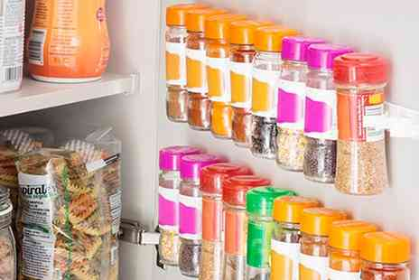 Groupon Goods Global GmbH - 20, 40 or 60 Adhesive Divisible Spice Organiser Holders - Save 71%