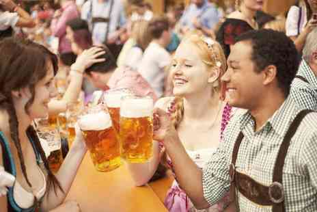 German Bierfest - Two tickets to German Bierfest, including drinks and snacks choose from seven locations - Save 50%