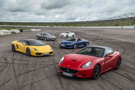 Supercar Drive Days - Three lap supercar driving experience with a hot lap on a weekday - Save 56%