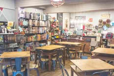 D20 Board Game Cafe - Two Hour Board Games Play with Pizza or Nachos and Wine for Up to Four - Save 48%