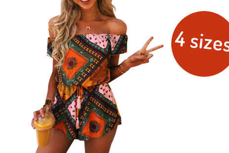 Verso Fashion - Paisley Print Playsuit Available in 4 Sizes - Save 60%