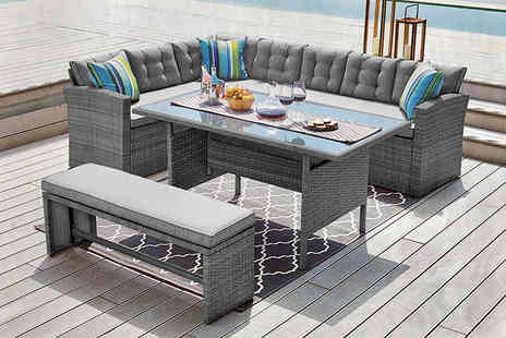 Dreams Outdoors - 10 seater rattan garden furniture set or include a cover - Save 51%