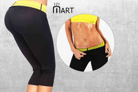 121 Mart - Pair of slimming workout leggings with tummy control - Save 70%