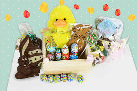Black Cat Hampers & Gifts - Easter hamper including chocolates, sweets and a fluffy duck soft toy - Save 63%
