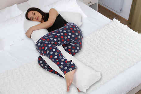 Home tex - Five foot long L shaped support pillow - Save 71%