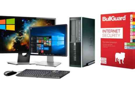 Computer Remarketing Services - Refurbished HP Elite 8200 Core i5 PC Set with Optional 19 Inch or 22 Inch Monitor or Bullgaurd Antivirus With Free Delivery - Save 0%