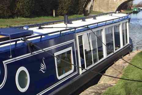 Blue Swan Boat Hire - Canal cruise with afternoon tea for two or four - Save 63%