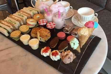 Ghiaccio - Afternoon Tea with a Glass of Bucks Fizz for Two or Four - Save 0%