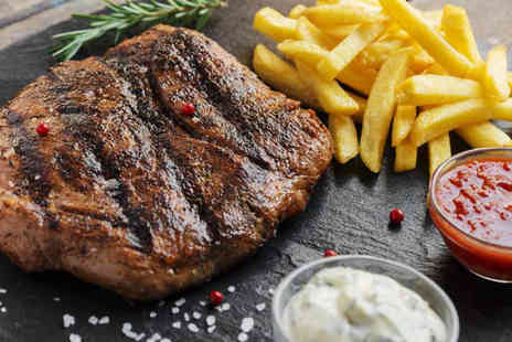 Esca - Sirloin steak dining for two with a glass of house wine each - Save 50%