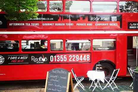 Red Bus Bistro - Vintage Bus Tour of Edinburgh or Glasgow with Gourmet Burger or Deli Board for Two - Save 0%