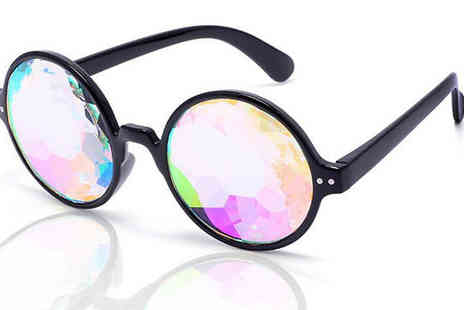Best mall ever - Rainbow Kaleidoscope Glasses - Save 80%