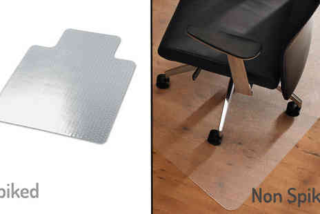 Mhstar - Non Slip Chairmat Protector Spiked or Non Spiked - Save 60%