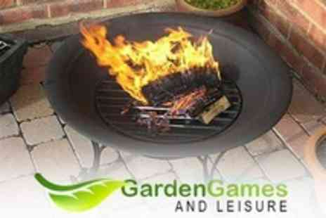 Garden Games - Outdoor Fire Pit With Stand - Save 51%