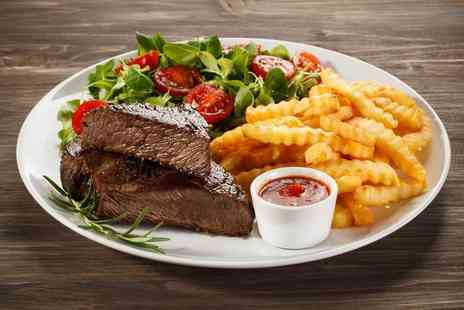 Blue Eyed Maid - Steak dinner with a bottle of wine for two - Save 66%