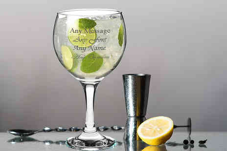 CNC Group - Engraved Spanish Balloon gin and tonic glass - Save 70%