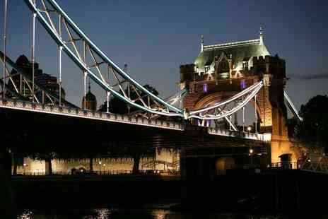 City Cruises - Thames river evening cruise for two including sparkling wine, live music and canapes - Save 55%