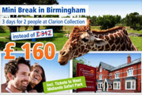 Clarion Collection - City and Safari adventures for 2 in the West Midlands - Save 49%