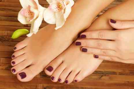 Fake It Tanning and Beauty - Gel Manicure, Pedicure or Both - Save 59%