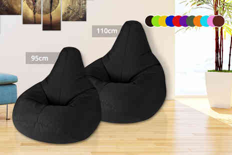 UK Beanbags - Large adult highback beanbag or extra large beanbag choose from 11 colours - Save 71%