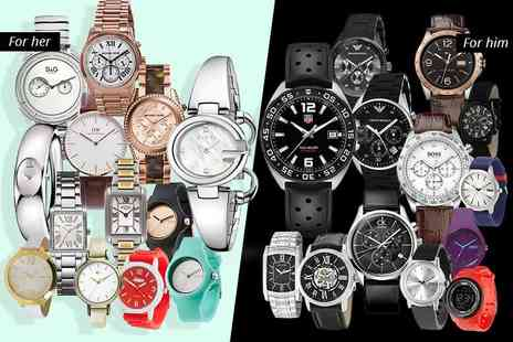 Brand Logic - Mystery watch deal for him or her for Tag Heuer, Gucci, Michael Kors, Dolce & Gabbana, Armani, Guess, Daniel Wellington, Calvin Klein, Breo and more - Save 0%
