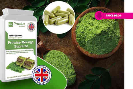 Prowise Healthcare - Two month supply of Moringa 500mg capsules - Save 69%
