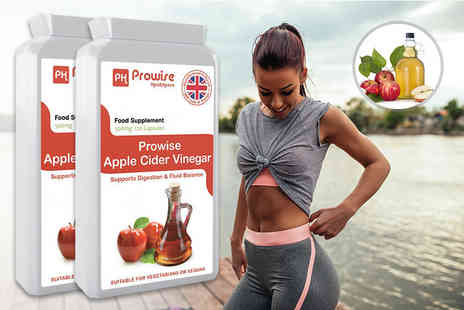 Prowise Healthcare - Eight month supply of prowise apple cider vinegar capsules - Save 70%