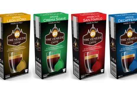 Groupon Goods Global GmbH - 100 or 200 Tre Venezie Nespresso Capsules - Save 0%