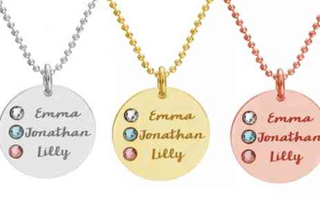 Jewells House - One, Two or Three Personalised Name Disc Necklaces With Free Delivery - Save 72%