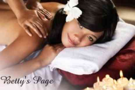 Bettys Page Boudoir - One Hour Massage Such as Hot Stone or Swedish For Two - Save 73%