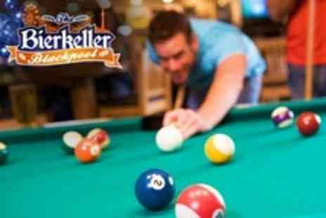 Bierkeller - Two Hours of Pool Plus a Stein Each For Two - Save 68%