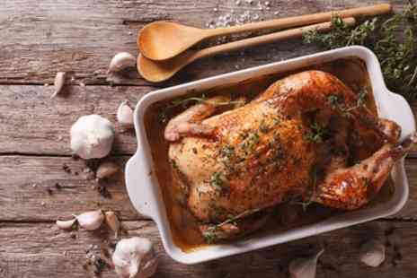 The Yard Ilkley - Whole Chicken with Two Dips and Sides to Share Between Pairs for Two or Four - Save 40%