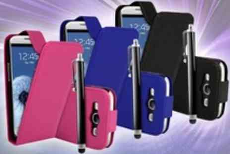 Beesbays - Samsung Galaxy S III Leather Case With Stylus and Screen Protector - Save 50%