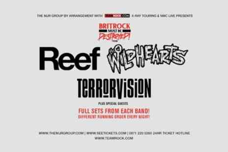 Alchemy Promotions - Ticket to Reef, The Wildhearts, Terrorvision on 5 to 26 May - Save 9%