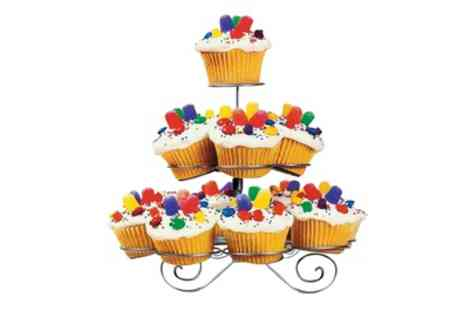 Groupon Goods Global GmbH - Three Tier Cupcake Stand for 13 Cupcakes - Save 85%